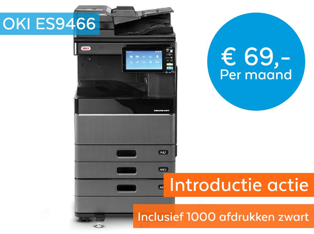 OKI ES9466/ES9476 Introductie actie € 69,- Inclusief 1000 afdrukken zwart