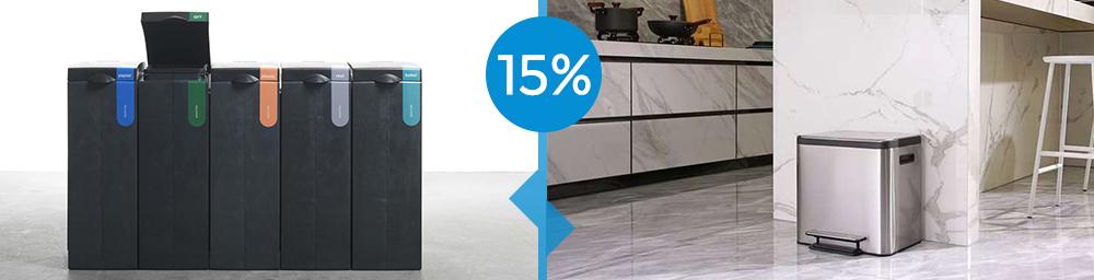 VepaBins afvalbakken, deze maand 15% korting!